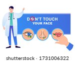 do not touch your face. do not... | Shutterstock .eps vector #1731006322