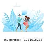 happy best friends having good... | Shutterstock .eps vector #1731015238