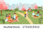 hanami sakura festival  people... | Shutterstock .eps vector #1731015412