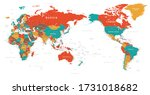 world map   pacific china asia... | Shutterstock .eps vector #1731018682