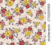 hand drawn artistic naive daisy ...   Shutterstock .eps vector #1731029305