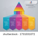 5 steps pyramid with free space ... | Shutterstock .eps vector #1731031072