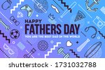 happy fathers day greeting card.... | Shutterstock .eps vector #1731032788