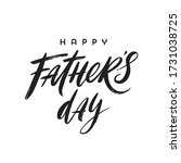 happy fathers day brush... | Shutterstock .eps vector #1731038725