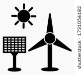eco electric icon. green energy.... | Shutterstock .eps vector #1731056182