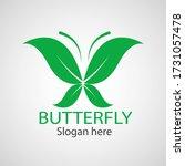 green butterfly leaf template... | Shutterstock .eps vector #1731057478