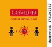 covid 19  coronavirus vector... | Shutterstock .eps vector #1731061582