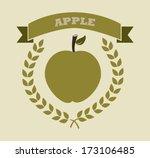 healthy design over beige... | Shutterstock .eps vector #173106485