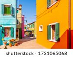 Alleyway With Colorful Facades...