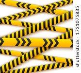 signal tape industrial border...   Shutterstock .eps vector #1731075835
