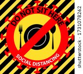 social distancing seating signs ...   Shutterstock .eps vector #1731078262