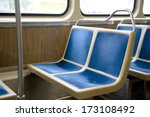two  bright  blue  sewn  bus... | Shutterstock . vector #173108492