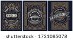 set of 3 vintage labels. vector ... | Shutterstock .eps vector #1731085078