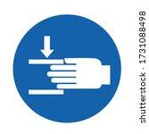 beware of crushing hand sign... | Shutterstock .eps vector #1731088498