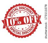 special discount 10  off grunge ... | Shutterstock .eps vector #173111078