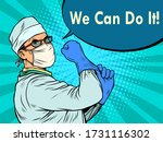 we can do it a doctor in a... | Shutterstock .eps vector #1731116302