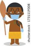 character from new zealand...   Shutterstock .eps vector #1731119308