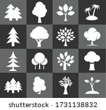 vector icon set of tree eps10 | Shutterstock .eps vector #1731138832