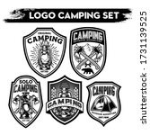 camping and hiking logo design  ... | Shutterstock .eps vector #1731139525