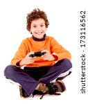 Little Boy Playing Videogames...