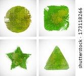 set of grunge shapes   Shutterstock .eps vector #173118266
