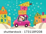 new year. bull santa claus... | Shutterstock .eps vector #1731189208