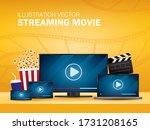 streaming movie illustration... | Shutterstock .eps vector #1731208165