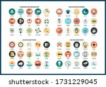 business icons set for business ... | Shutterstock .eps vector #1731229045