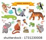big vector set jungle animals... | Shutterstock .eps vector #1731230008