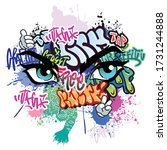 Graffiti Illustration With...