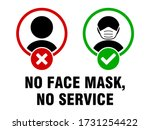 no face mask no service or face ... | Shutterstock .eps vector #1731254422