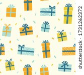gift boxes vector pattern in...   Shutterstock .eps vector #1731262372