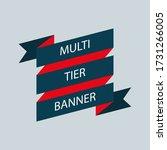 retro ribbon banner vector... | Shutterstock .eps vector #1731266005