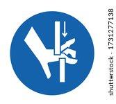 crush hand top bottom symbol... | Shutterstock .eps vector #1731277138