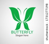 green butterfly leaf template... | Shutterstock .eps vector #1731277198
