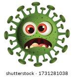 corona emoji. coronavirus... | Shutterstock .eps vector #1731281038