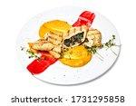 stuffed chicken fillet on a...   Shutterstock . vector #1731295858