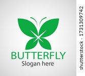 green butterfly leaf template... | Shutterstock .eps vector #1731309742