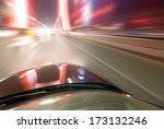car on the road with motion... | Shutterstock . vector #173132246
