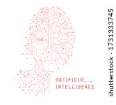 artificial intelligence.... | Shutterstock .eps vector #1731333745