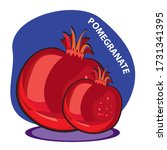 pomegranate  clip art.in the... | Shutterstock .eps vector #1731341395