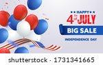 4th of july celebration poster. ... | Shutterstock .eps vector #1731341665