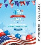 4th of july celebration poster. ... | Shutterstock .eps vector #1731341668