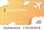 travel to italy banner with... | Shutterstock .eps vector #1731343318
