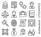 law and justice icons set on... | Shutterstock .eps vector #1731345922