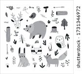 vector hand drawn children's... | Shutterstock .eps vector #1731346972
