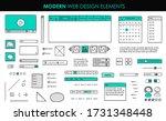 set modern design elements page ...
