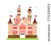 castle symbol vector flat... | Shutterstock .eps vector #1731350425