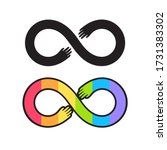 autism pride symbol  infinity... | Shutterstock .eps vector #1731383302