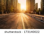Road And Buildings At City Wit...